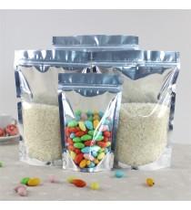 Túi nhôm màng trong nhìn thấy sản phẩm đáy đứng zipper thực phẩm (HẾT HÀNG)