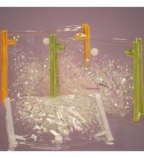 Túi PVC kiểu ví, nắp đậy, nút bấm